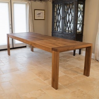 Christopher Knight Home Cain Oak Wood Rectangle Dining Table (ONLY) with Butterfly Extension
