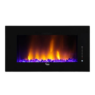 Caesar Luxury Linear Wall Mount Recess Freestanding Multicolor Flame Electric Fireplace