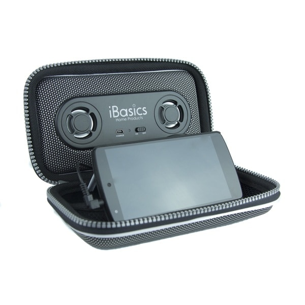 iBasics Portable Smartphone Speaker Case with Rechargeable Battery