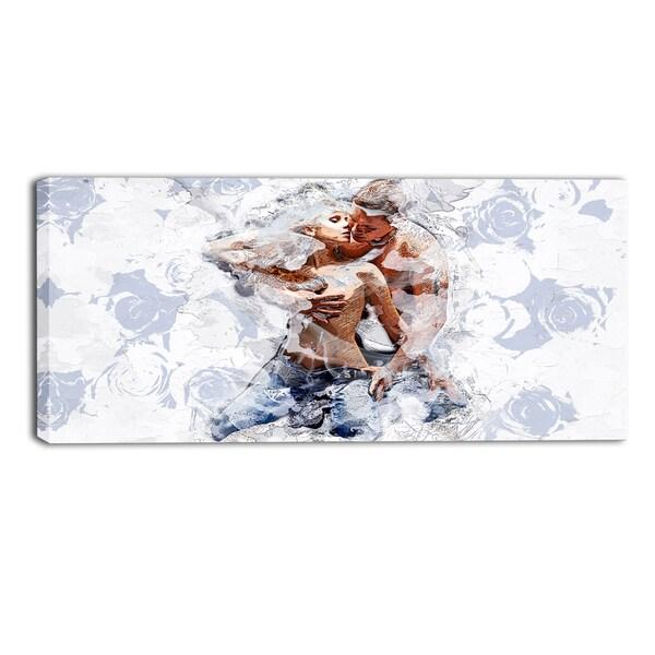 Design Art 'Fashion Passion' Sensual Canvas Art Print - 32x16 Inches