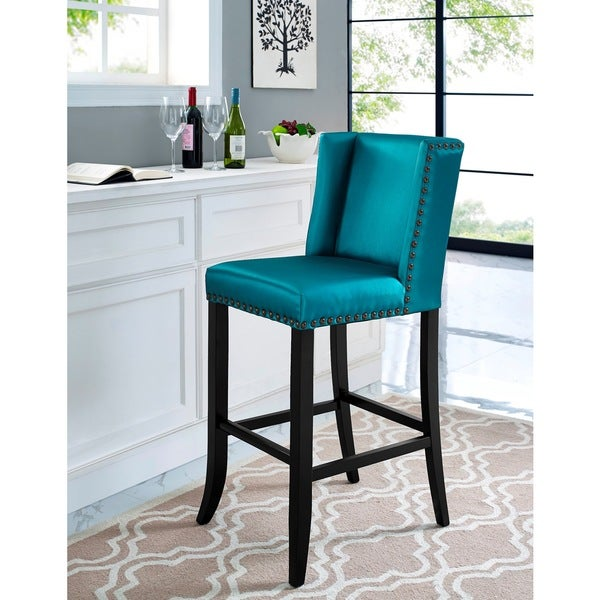 Denver Blue Bar Stool 17610387 Overstock Com Shopping