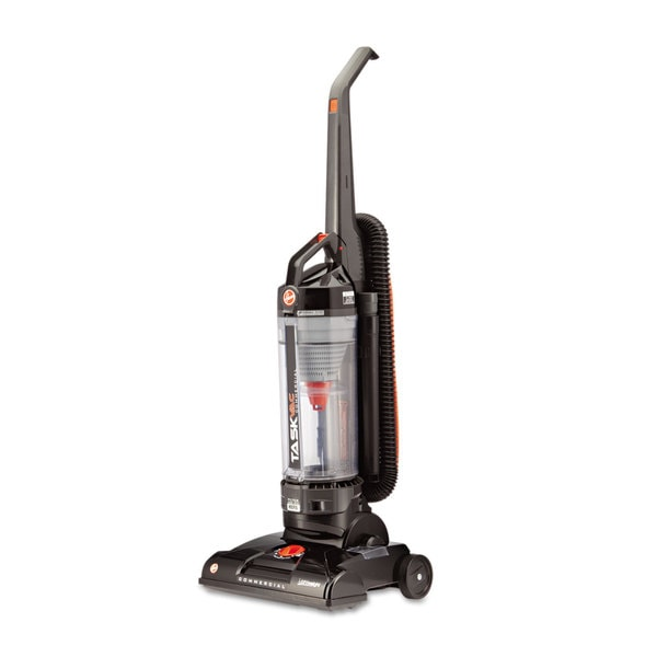 Hoover Commercial Black Task Vac Bagless Lightweight Upright