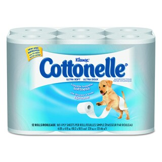 Cottonelle 1-Ply Ultra Soft Bath Tissue (Pack of 48)