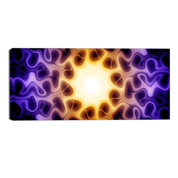 Design Art 'Light Shine Through' Modern Canvas Art Print - 32x16 Inches
