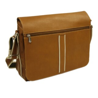 Piel Leather 4-section Laptop Urban Messenger Bag