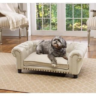 Melbourne Linen Tufted Pet Sofa