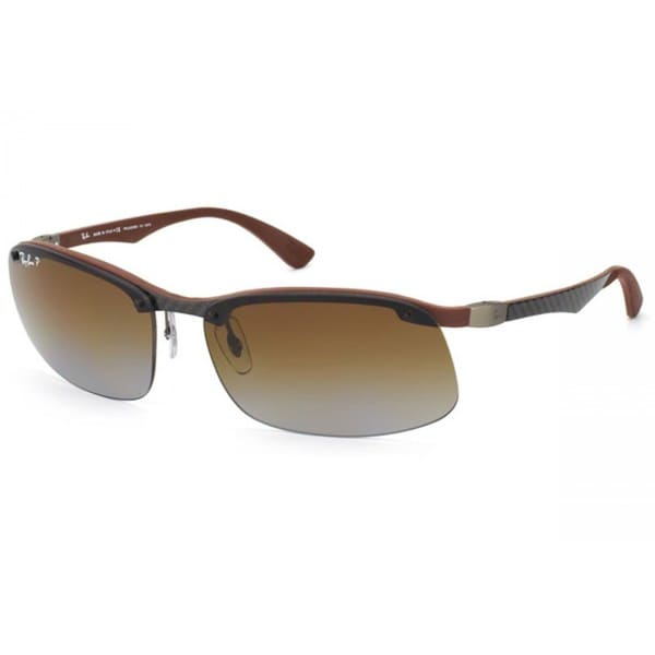 Ray Ban RB8314 63mm Polarized Brown Gradient Lenses Grey/Brown Frame Sunglasses
