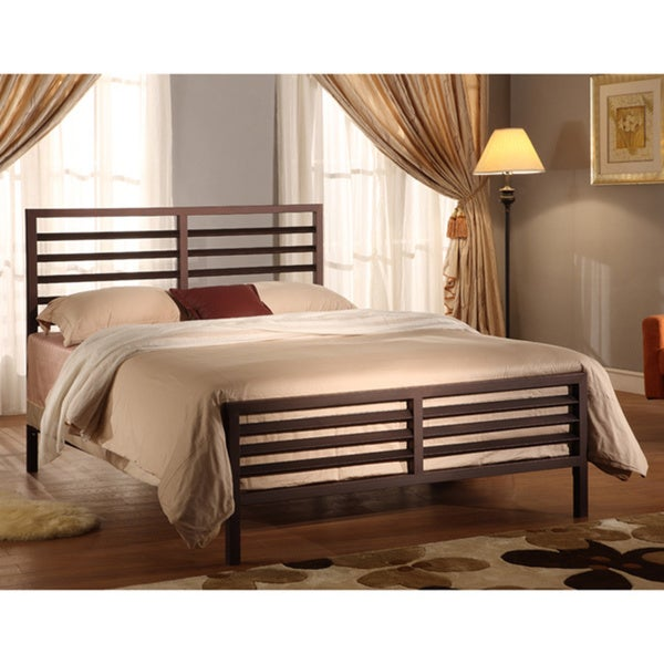 Bronzetone Queen-size Metal Bed