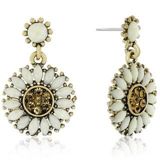 Passiana Sunflower Crystal Earrings
