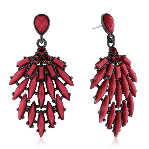 Passiana Cascading Crystal Earrings, Marsala