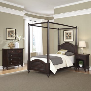 Home Styles Bermuda Twin Canopy Bed, Night Stand, and Chest