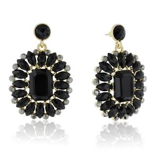 Adoriana Midnight Crystal Earrings, Black