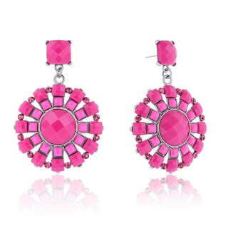 Adoriana Spring Crystal Earrings, Pink