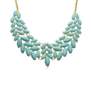 Adoriana Turquoise Petal Bib