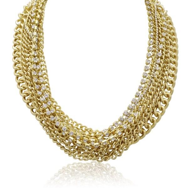 Passiana Multi Strand Crystal Necklace