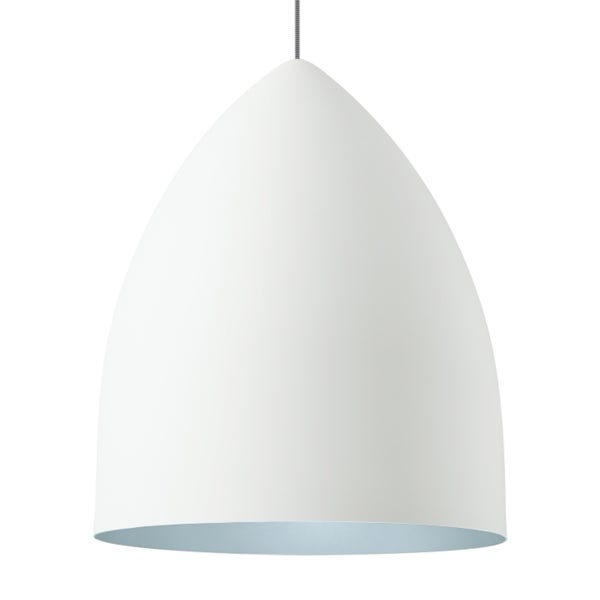 LBL Signal Grande Rubberized White Exterior with Blue Interior CF Pendant