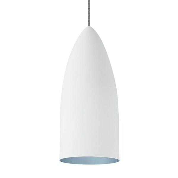 LBL Signal Rubberized White Exterior with Blue Interior LED Pendant