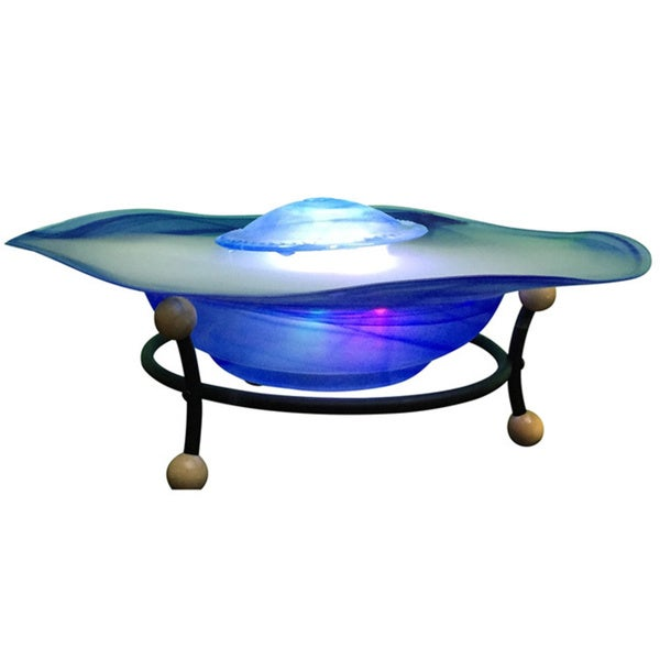 Canary Tabletop LED Light Mist Fountain with Remote Control
