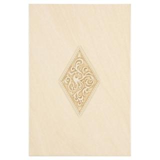 SomerTile 8x12-inch Drift Sandstone Décor Ceramic Wall Tile (Case of 10)