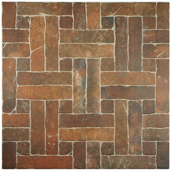 SomerTile 19.75x19.75-inch Navarre Cotto Porcelain Floor and Wall Tile (Case of 6)