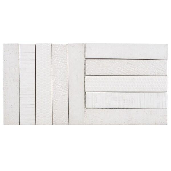 Somertile 10x20 inch sophitia valge porcelain mosaic floor for 10 inch floor tiles