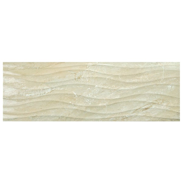 SomerTile 11.75x35.5-inch Oceana Beige Ceramic Wall Tile (Case of 4)