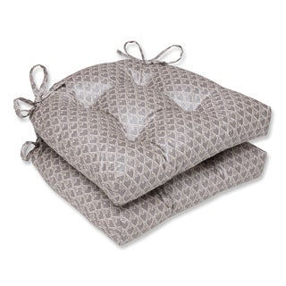 Pillow Perfect Diego Champagne Reversible Chair Pad (Set of 2)