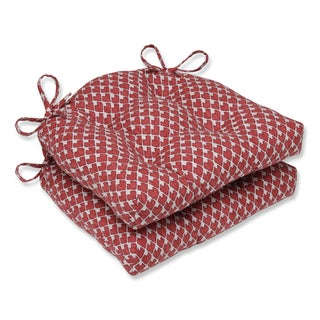 Pillow Perfect Diego Salmon Reversible Chair Pad (Set of 2)