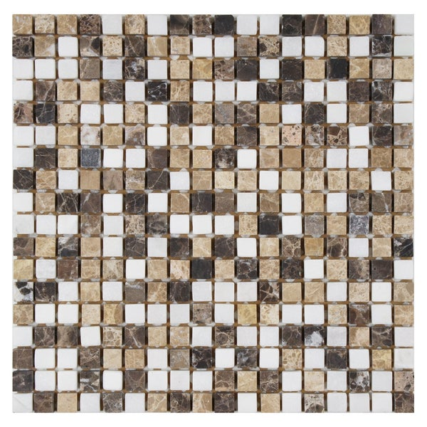 SomerTile 12x12-inch Boccaccio Mini Sand Natural Stone Mosaic Wall Tile (Case of 10)