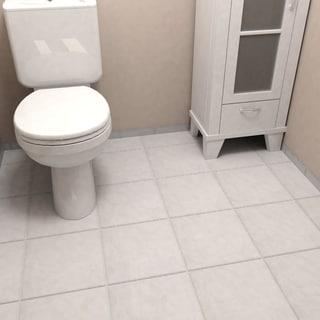 SomerTile 11.75x11.75-inch Zeta White Ceramic Floor and Wall Tile (Case of 11)