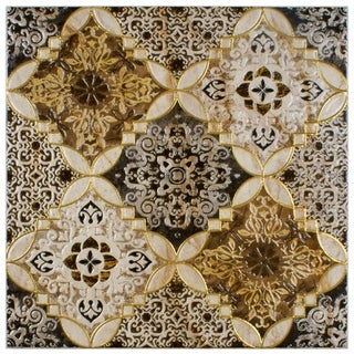 SomerTile 17.75x17.75-inch Tyana Toja Ceramic Floor and Wall Tile (Case of 4)