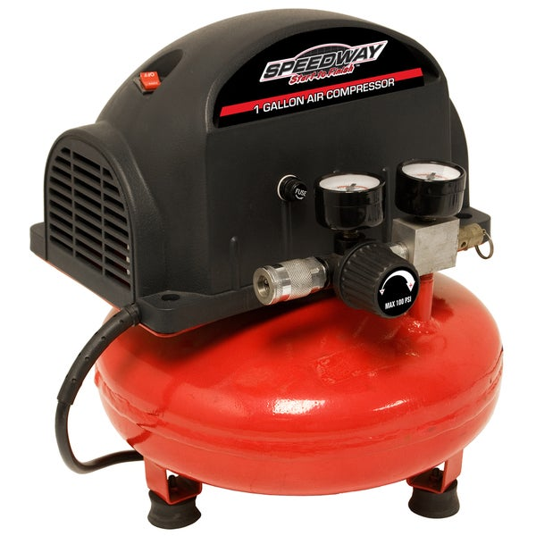 Speedway 1-gallon Pancake Compressor & inflation kit