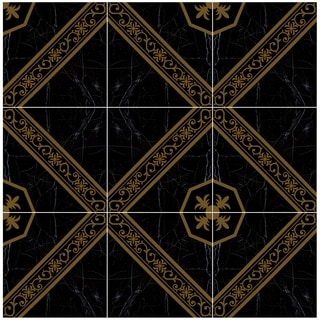 SomerTile 17.75x17.75-inch Caspian Negro Ceramic Floor and Wall Tile (Case of 7)