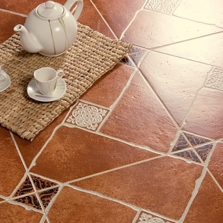 SomerTile 17.75x17.75-inch Jarama Cotto Ceramic Floor and Wall Tile (Case of 7)