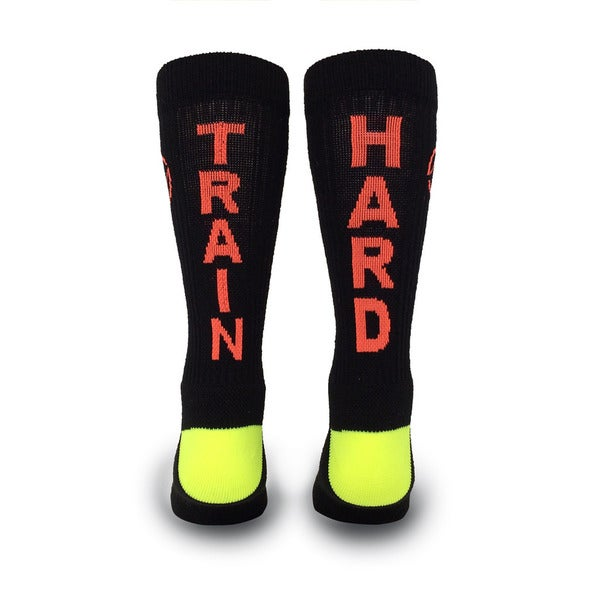 Inspyr Socks, Train Hard  Athetic Lifestyle Crew Sock Large 16176876
