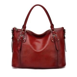 Ryder Leather Shoulder Tote Handbag