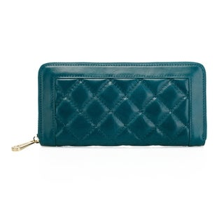 Alexis Quilted Women's Leather Zip Wallet Coin Purse