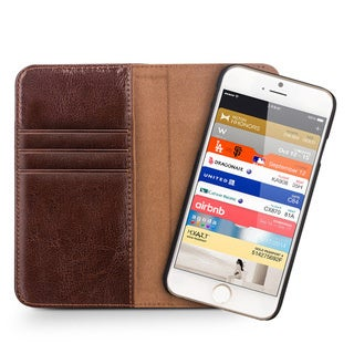 Magnete iPhone 6 Magnetic Genuine Leather Wallet Case