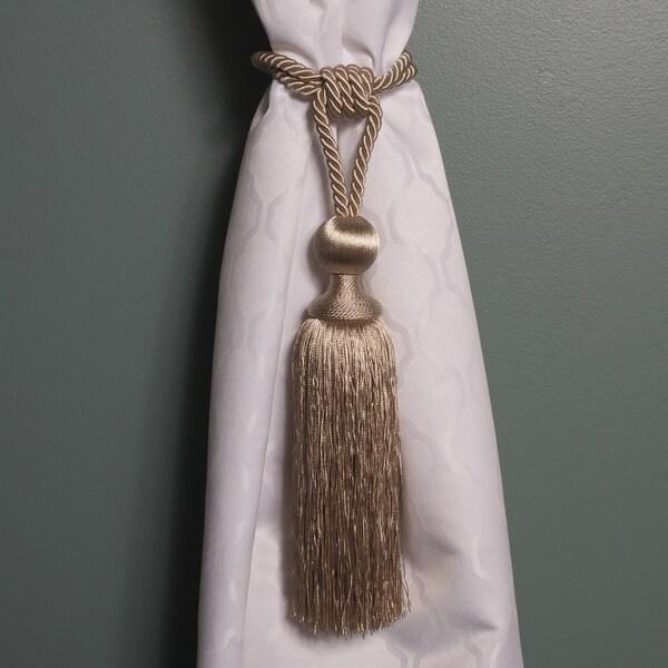 Decorative Roundtop 13-inch Tassel Style Curtain Holdback