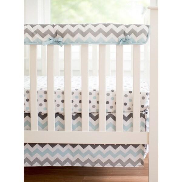 My Baby Sam Chevron BabyAqua Crib Rail Cover