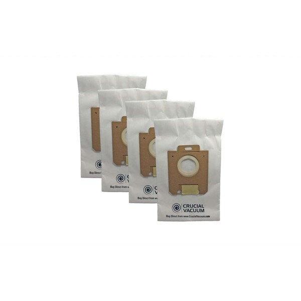 4 Eureka Style OX and Electrolux Style S Allergen Paper Vacuum Bags; Compared to Part # 61230 16177720