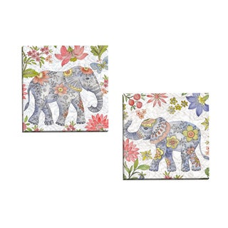 Portfolio Canvas Decor Elena Vladykina Asian Elephant 1 16x16 Wrapped/Stretched Canvas Wall Art