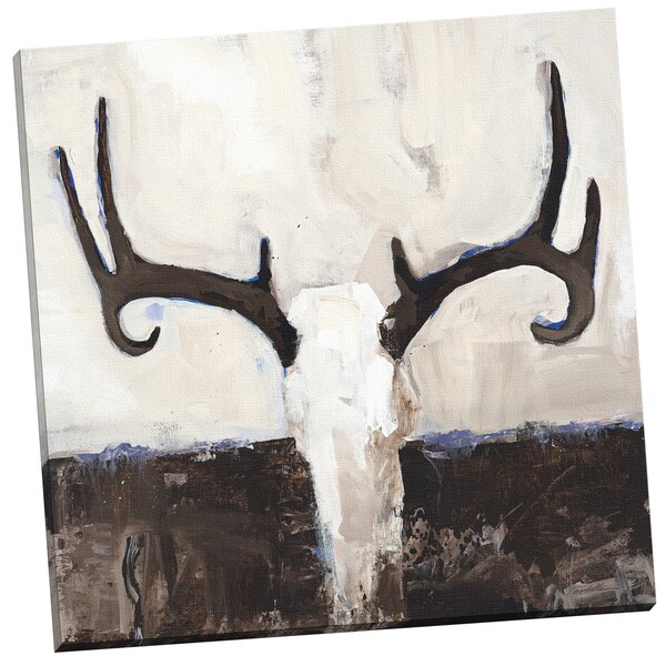 Vivian Canbelle Deer Departed 24x24 Wrapped/Stretched Canvas Wall Art