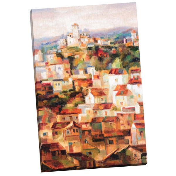 C. Roman Red Roofs 24x36 Wrapped/Stretched Canvas Wall Art