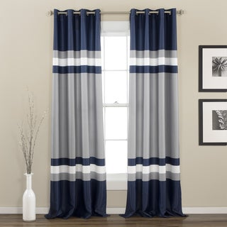 Lush Decor Alexander Stripe Room Darkening Curtain Panel Pair