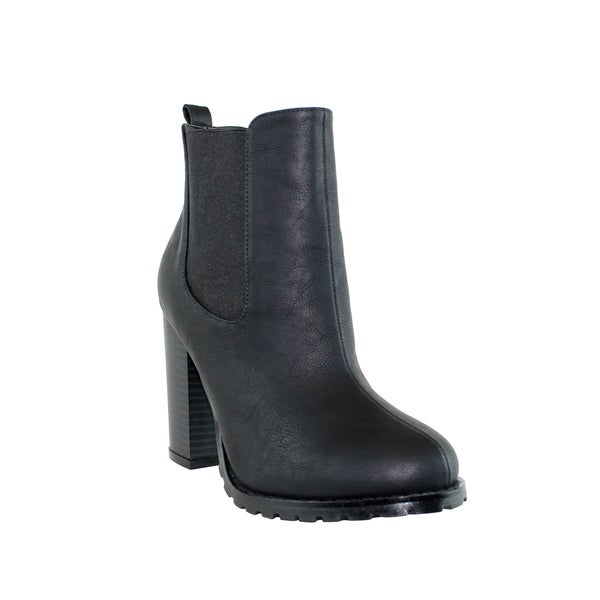 Olivia Miller 'Chelsea' Double Gore Block Heel Booties