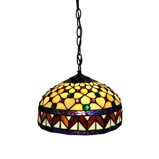 Ada 1-light Jewel Tiffany-style 12-inch Hanging Lamp