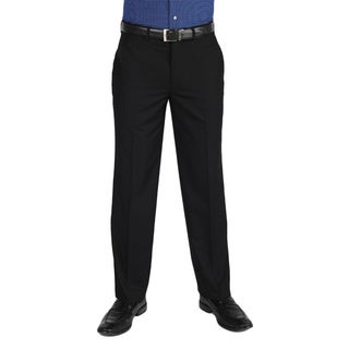 Dockers Essential Cross Hatch Flat Front Straight Fit Black Pant