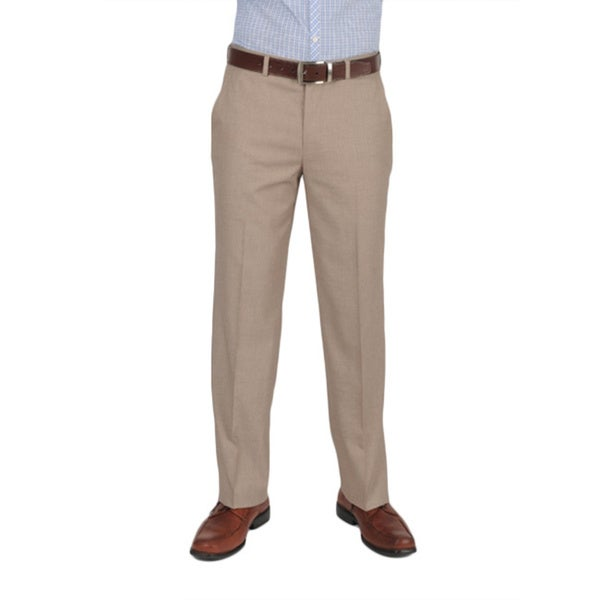 Dockers Essentials Men's Cross Hatch Flat Front Straight Fit Tan Pant