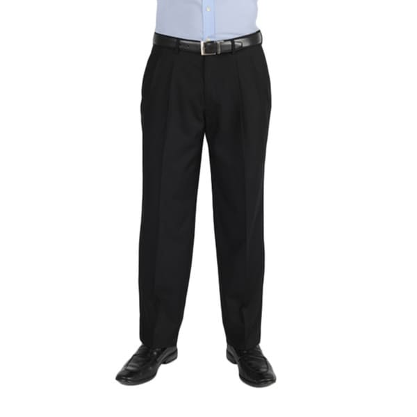 Dockers essentials mens cross hatch pleated straight fit black pant 8875a910 39f9 4010 84d7 55712032cab6 600